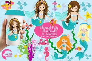 Little Mermaids Clipart AMB-205
