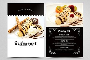 Ice Cream Restaurant Menu Flyers