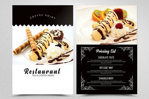 Ice Cream Restaurant Menu Flyers