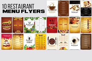 10 Restaurant Menu Flyers Bundle