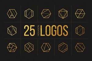 25 Linear Geometric Logos. Part I