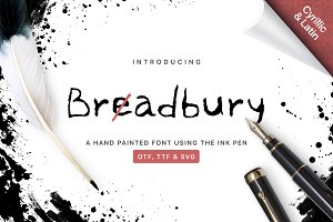 BreadBury font / Ink pen