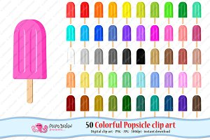Colorful Popsicle clipart