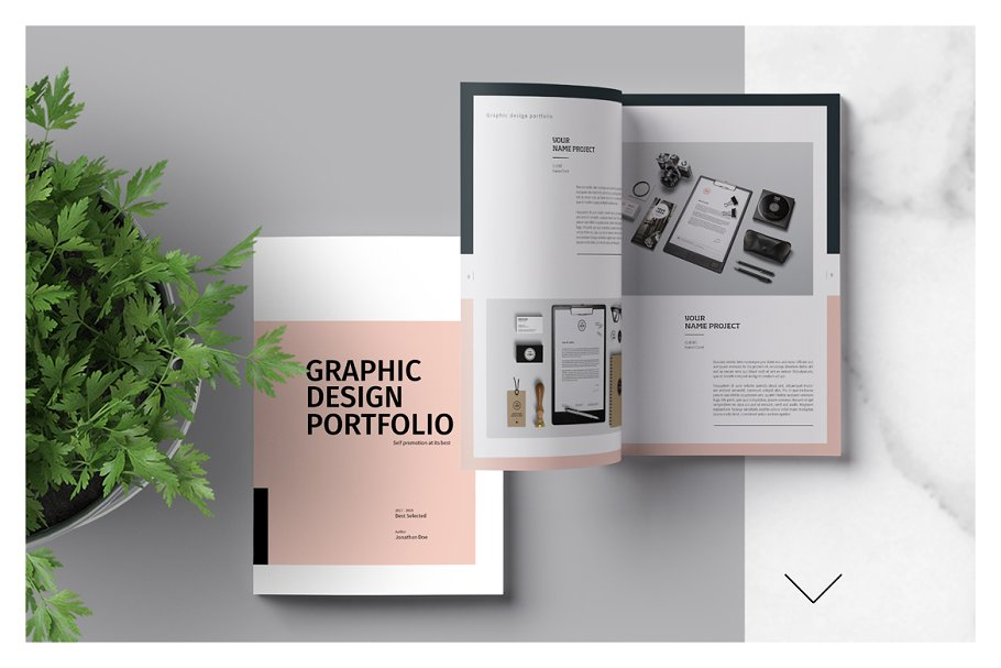 Graphic Design Portfolio Template ~ Brochure Templates
