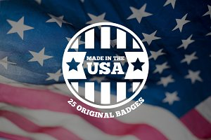 Made in the USA Logos and Badges