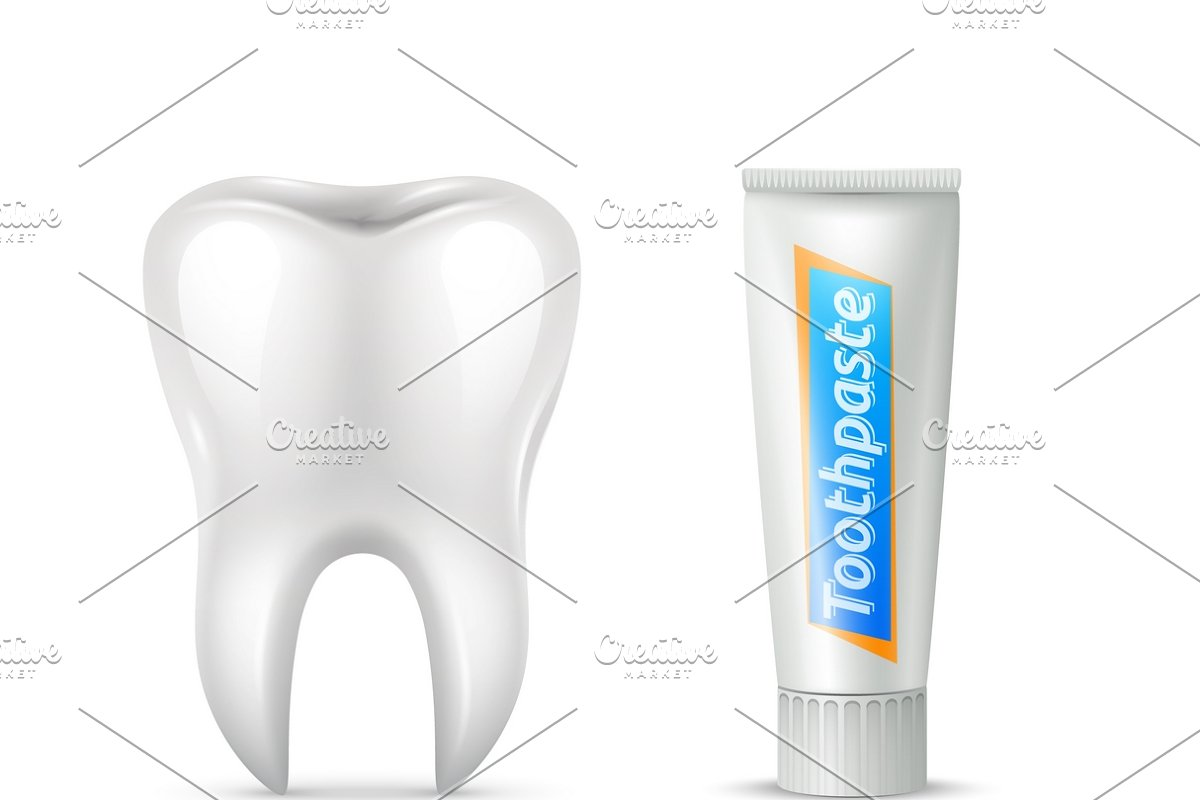 Human tooth brush and paste set