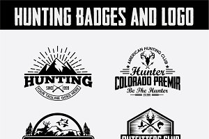 Hunting Vintage Badges and Logos