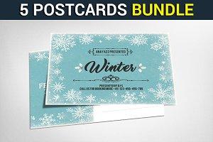5 Multiuse Business Postcards Bundle