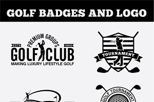 Golf Badges-Stickers & Logos