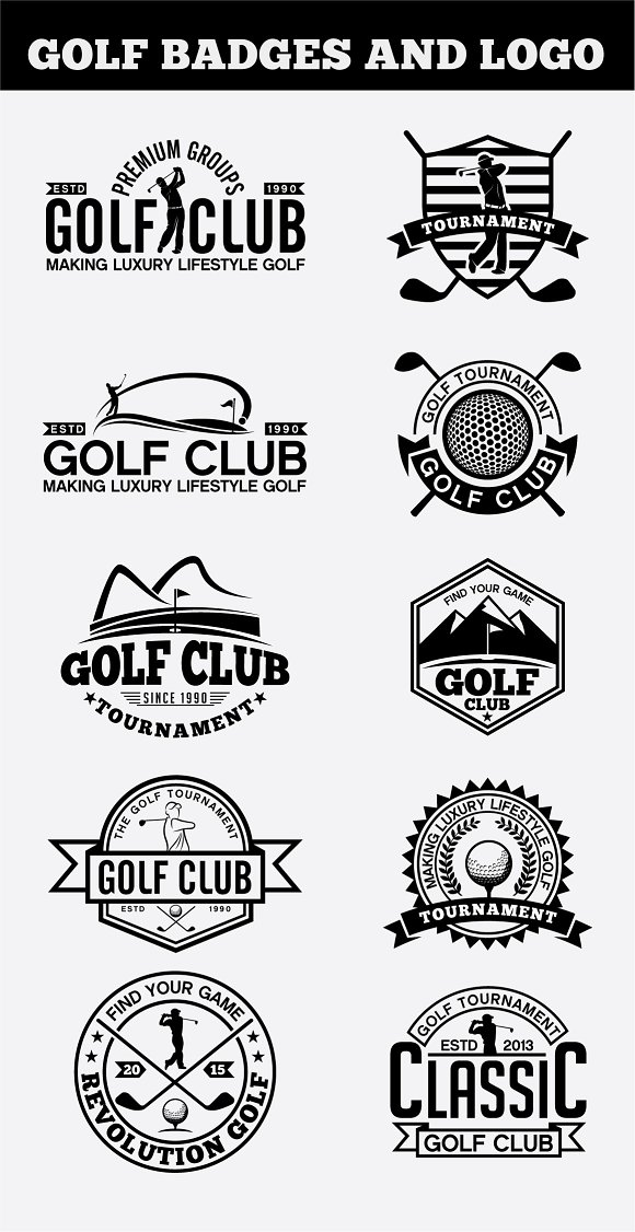 Golf Badges-Stickers Logos