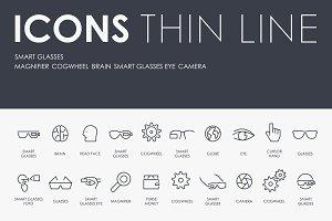 Smart glasses thinline icons