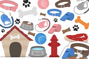Dog Clipart Set