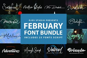 February Font Bundle