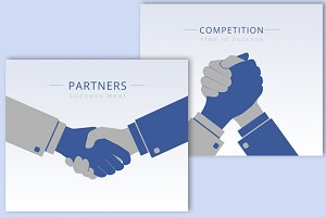Business handshaking vector