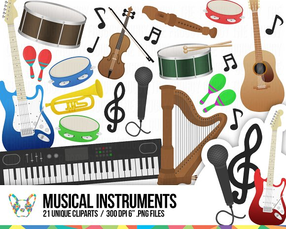 Musical Instruments Cliparts