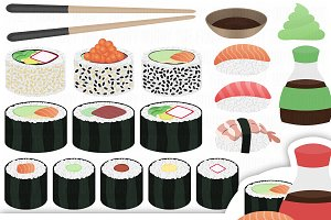 Sushi Clipart Collection