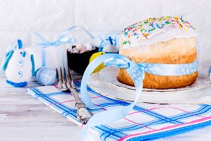 Easter cake and Place setting