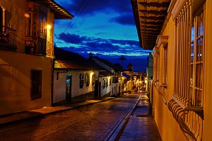 Colonial Street at Night