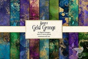 Bayou Gold Grunge Textures