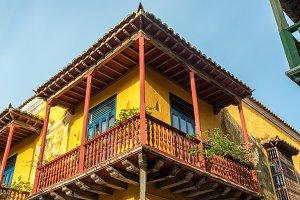 Beautiful Colonial Balcony in Cartag