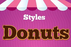 Style Donuts - Add-ons Illustrator