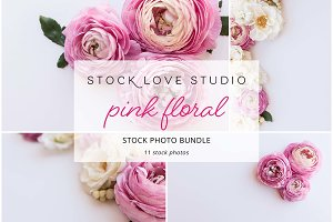 Pink Floral Stock Photo Bundle