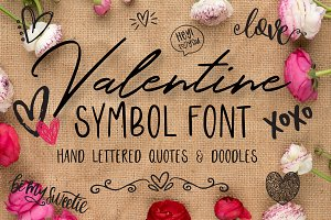 Valentine Symbol Font