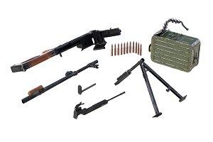 Gun firearm disassembled view