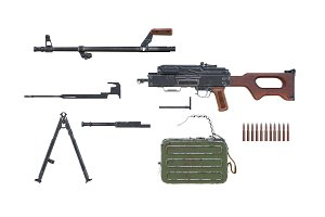 Rifle army disassembled view