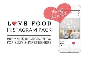[50% Off] Love Food Instagram Pack