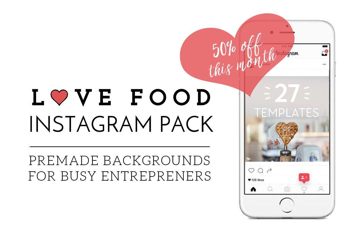 [50% Off] Love Food Instagram Pack