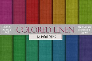 Colorful linen textures