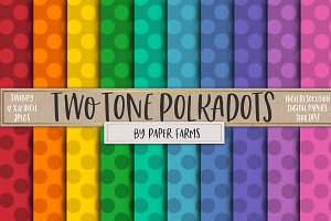 Two tone polkadots