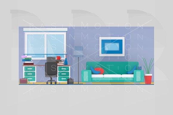 Study room in Illustrations
