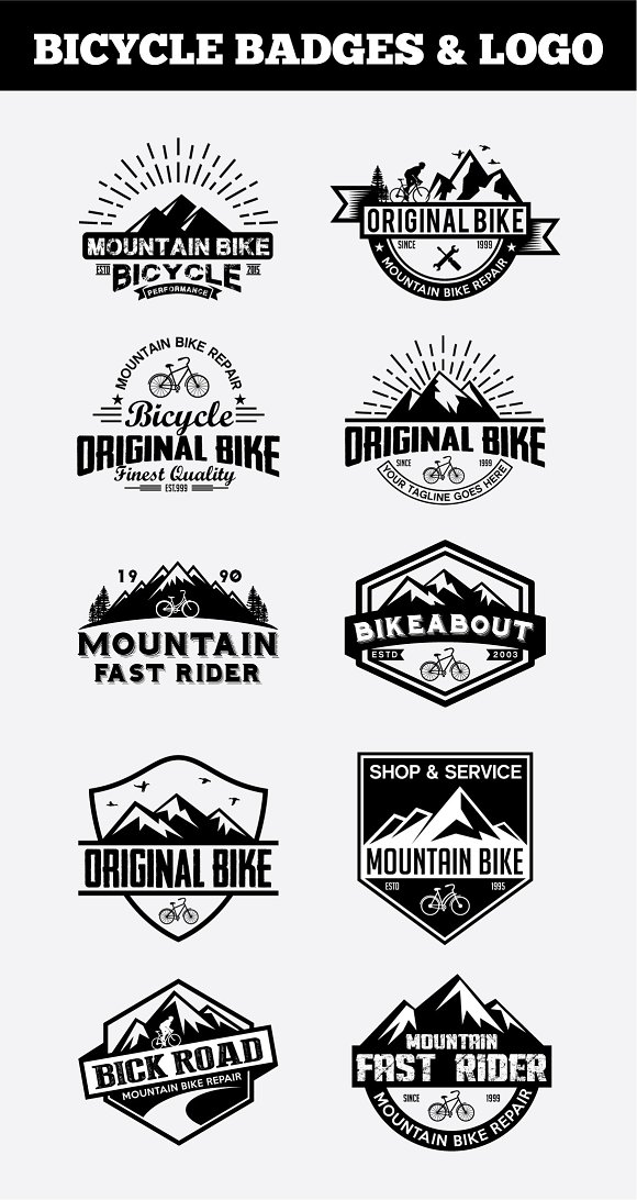 Sport Bicycle Badges & LogoVol2
