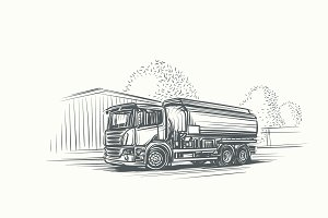 Cistern Truck Illustration. Vector.