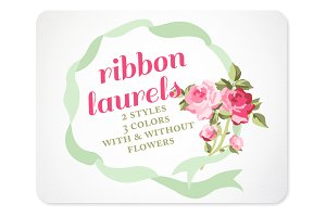 Ribbon Wreaths & Laurels