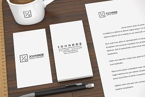 Modern Stationery Mock Up