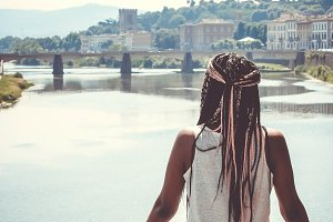 Black Girl Looking Out at Water