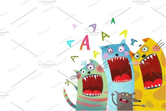 Fun Cats and Mouse Karaoke Singing