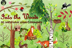 The woods 31 illustration clipart