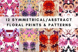 12 Abstract Floral Prints