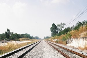 Rail road guiding to new destination