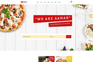 Aahar-Food Delivery Service Template
