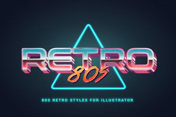 80s Retro Illustrator Styles