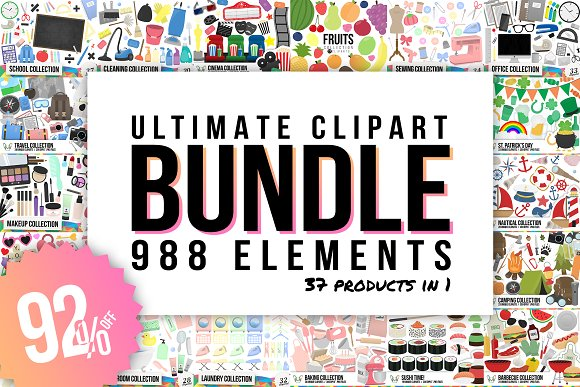 Ultimate Clipart Bundle 988 in 1