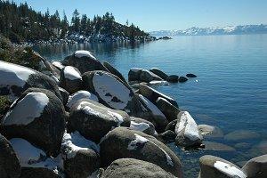 Sierra Lake In Winter