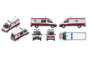 Ambulance Car. An emergency medical service, administering emergency care to those with acute medical problems.