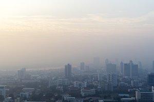 View of metro city buildings