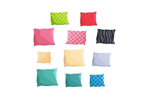 Decorative Small Cushions Plain and with Patterns